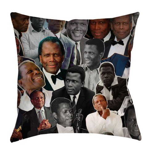 Sidney Poitier pillowcase