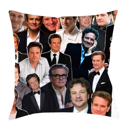 Colin Firth Photo Collage Pillowcase