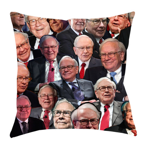 Warren Buffett Photo Collage Pillowcase