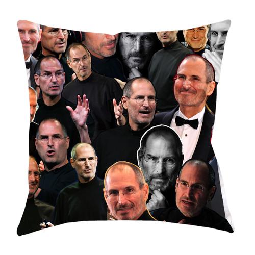Steve Jobs Photo Collage Pillowcase