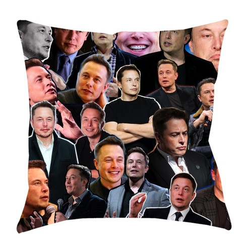 Elon Musk Photo Collage Pillowcase