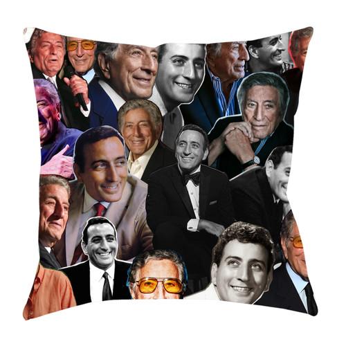 Tony Bennett Photo Collage Pillowcase