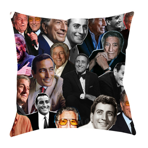 Tony Bennett Photo Collage Pillowcase