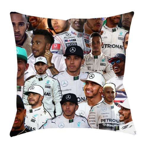 Lewis Hamilton Photo Collage Pillowcase