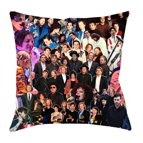 Arcade Fire Photo Collage Pillowcase