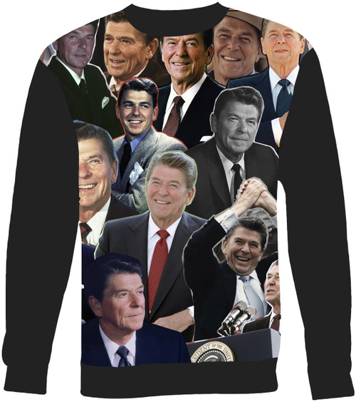 President Ronald Reagan Collage Sweater Sweatshirt
