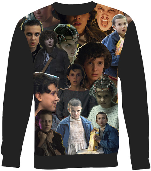 Eleven Stranger Things Collage Sweater Sweatshirt