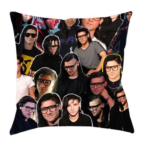 Skrillex Photo Collage Pillowcase