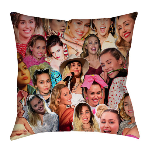 Miley Cyrus Photo Collage Pillowcase
