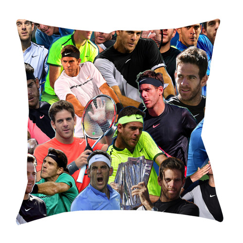 Juan Martin Del Potro Photo Collage Pillowcase