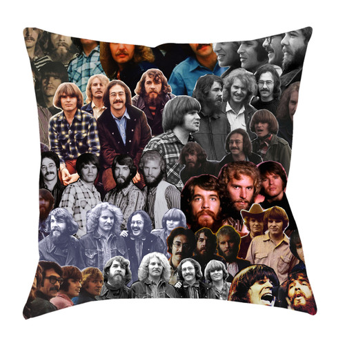 Creedence Clearwater Revival Photo Collage Pillowcase
