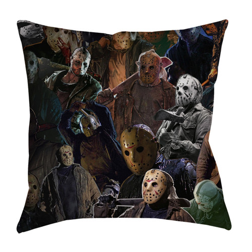 Jason Voorhees Photo Collage Pillowcase