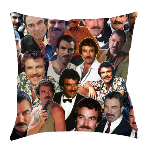 Tom Selleck Photo Collage Pillowcase