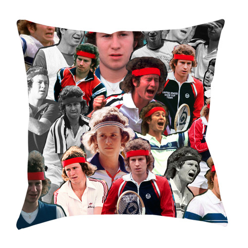 John McEnroe Photo Collage Pillowcase