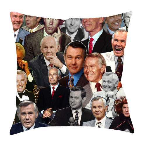 Johnny Carson Photo Collage Pillowcase