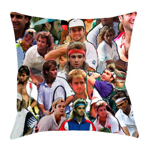 Andre Agassi Photo Collage Pillowcase
