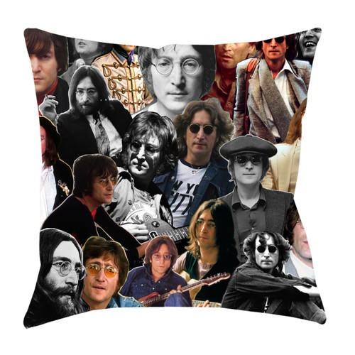 John Lennon Photo Collage Pillowcase