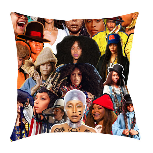 Erykah Badu Photo Collage Pillowcase