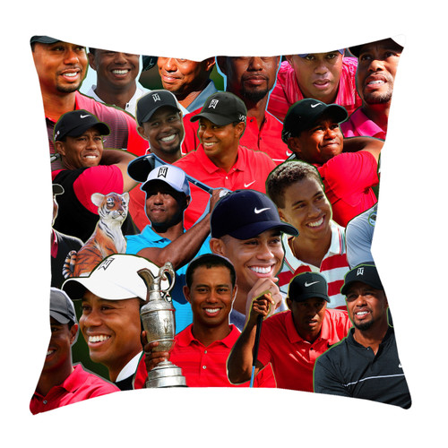 Tiger Woods Photo Collage Pillowcase