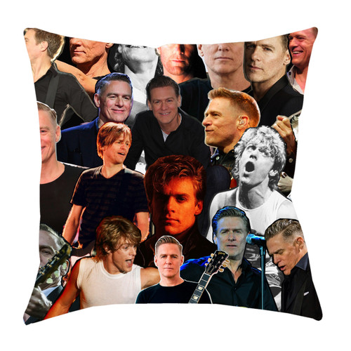 Bryan Adams Photo Collage Pillowcase