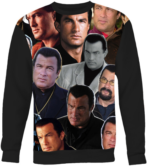 Steven Seagal Collage Sweater Sweatshirt