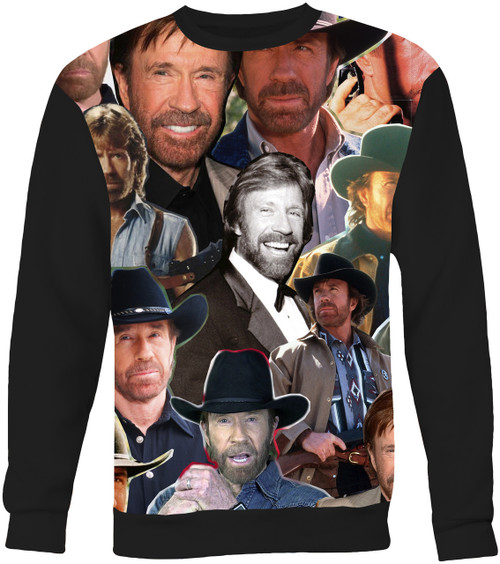 Chuck Norris Collage Sweater Sweatshirt
