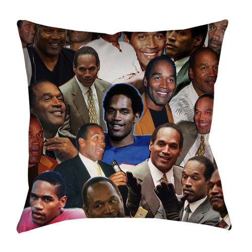 O.J. Simpson Photo Collage Pillowcase