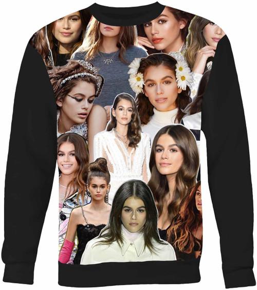 Kaia Gerber Collage Sweater Sweatshirt