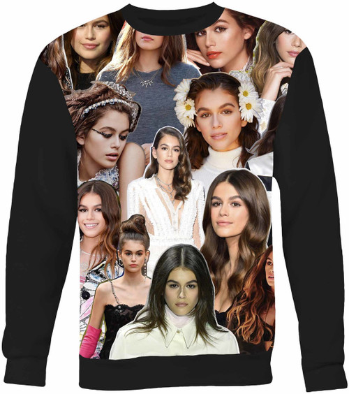Kaia Gerber Collage Sweater Sweatshirt