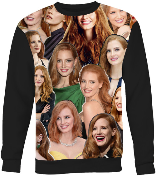 Jessica Chastain Collage Sweater Sweatshirt