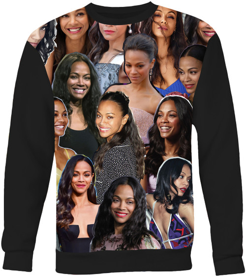 Zoe Saldana Collage Sweater Sweatshirt