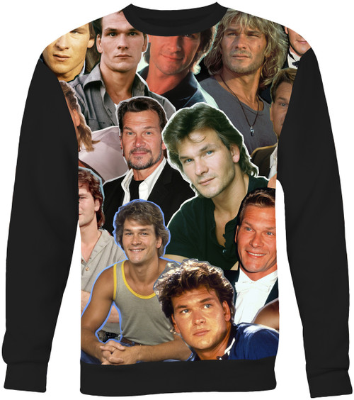 Patrick Swayze Collage Sweater Sweatshirt
