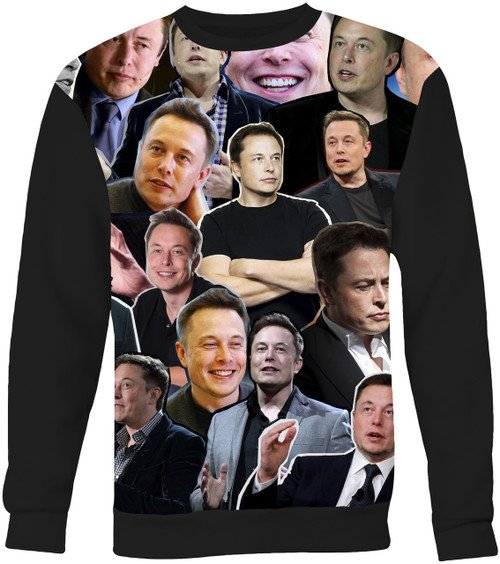 Elon Musk Collage Sweater Sweatshirt