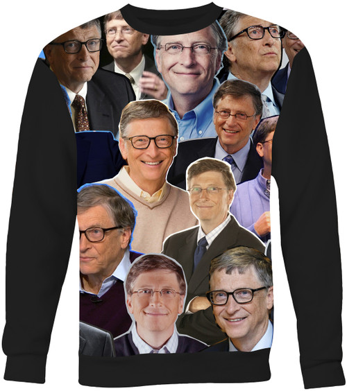 Bill Gates Collage Sweater Sweatshirt