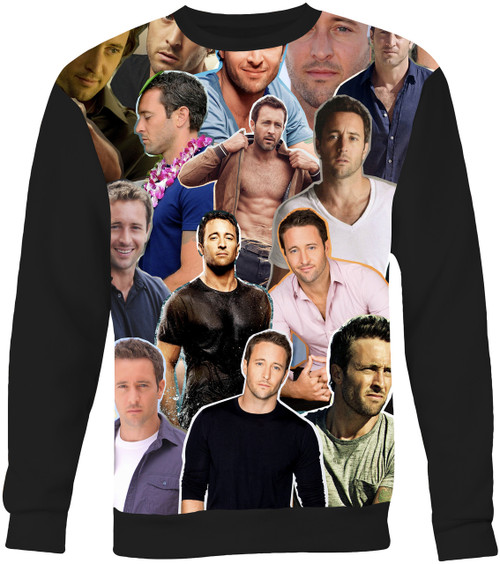 Alex O'Loughlin Collage Sweater Sweatshirt