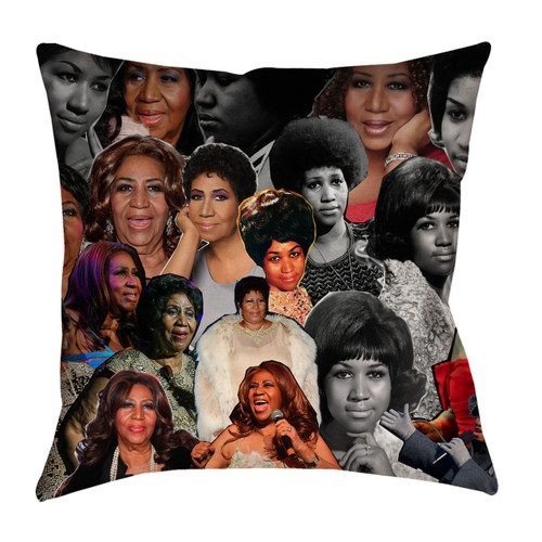 Aretha Franklin Photo Collage Pillowcase