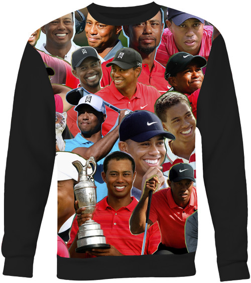 Tiger Woods Collage Sweater Sweatshirt