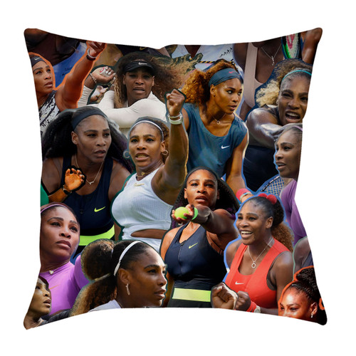 Serena Williams Photo Collage Pillowcase