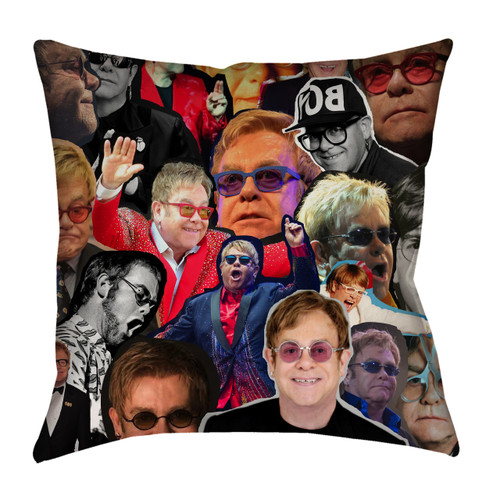 Elton John Photo Collage Pillowcase