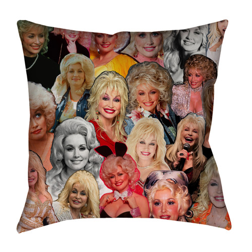 Dolly Parton Photo Collage Pillowcase