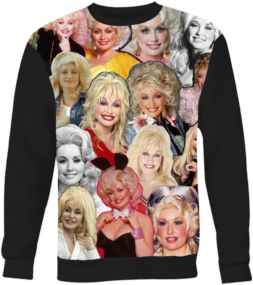 Dolly Parton Collage Sweater Sweatshirt