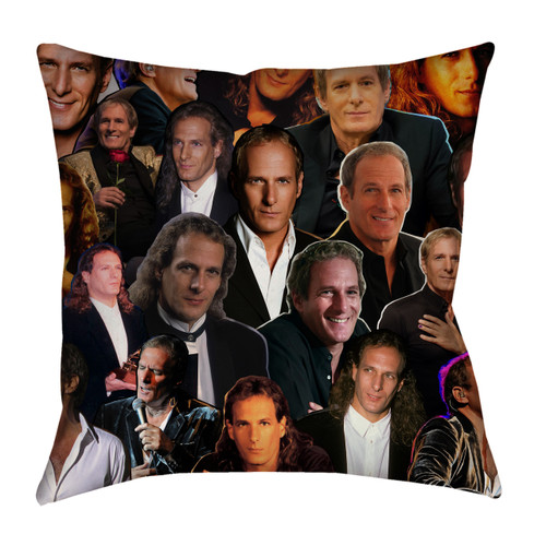 Michael Bolton Photo Collage Pillowcase
