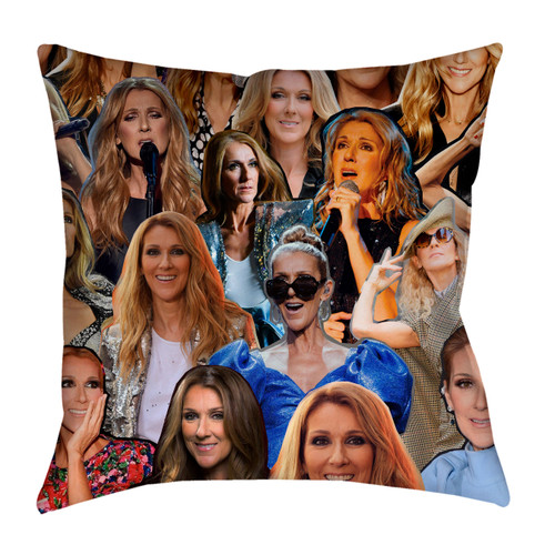 Celine Dion Photo Collage Pillowcase