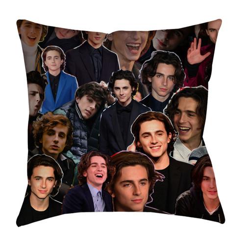 Timothee Chalamet Photo Collage Pillowcase