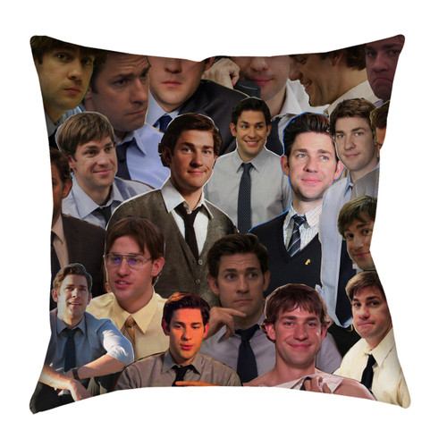 Jim Halpert The Office Photo Collage Pillowcase