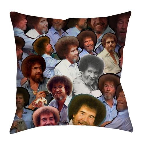 Bob Ross Photo Collage Pillowcase