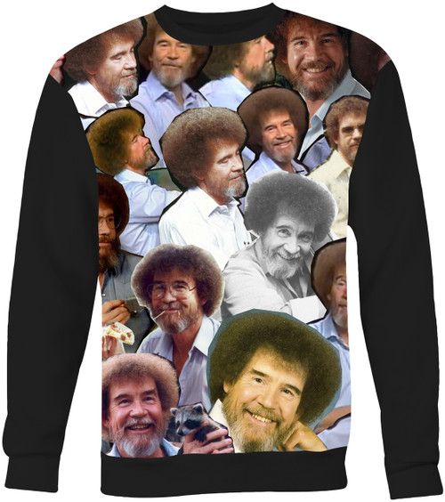 Bob Ross Collage Sweater Sweatshirt