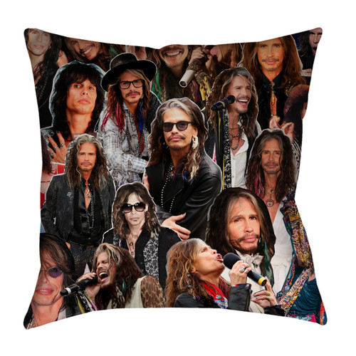 Steven Tyler Aerosmith Photo Collage Pillowcase