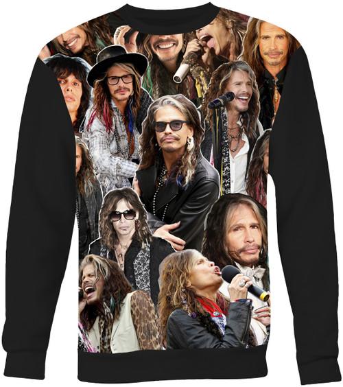 Steven Tyler Aerosmith Collage Sweater Sweatshirt