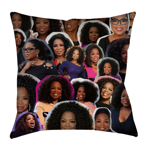 Oprah Winfrey Photo Collage Pillowcase
